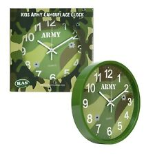 Kids Army Camouflage Wall Clock