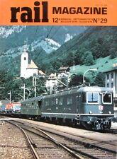 Rail magazine n°29 - 1979 - Autorails Panoramiques - St Gothard - 030 T 371 374
