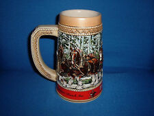 "Collectable Budweiser Clysdale Holiday Beer Stein-1987 ""C"" Series"