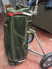 Vintage Nadco Deluxe Golf Bag and Caddy Made In Chicago. Working Condition!!!