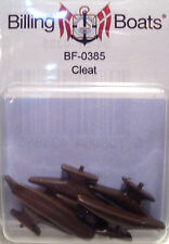 Billing Boats Accessory BF-0385 - 30mm Cleat x 6 Brown Plastic