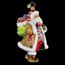 """Radko Candy Claus 6"""" Santa With Candy Ornament 1016133 NWT"""