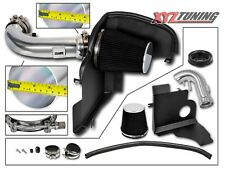 "3.5"" BLACK Heat Shield Cold Air Intake Kit + Filter For 11-14 Mustang GT 5.0L V8"
