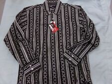 Men's Size M HighRoller Fashions Casino Black & White Striped Poker Shirt NEW