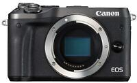 Canon EOS M6 Mirrorless Digital Camera Body Only Black EMS w/ Tracking NEW