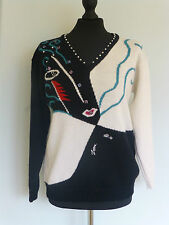 SALE.. Original Vintage 80s Jumper by Zandra Rhodes At 5th Avenue UK10/12 Rare