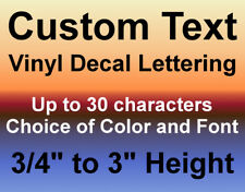 Custom Vinyl Decals Text Letters Numbers Personalized Stickers Car Window Home
