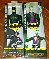 """True Moves DC Batman Missions: BATMAN (Stealth Suit) & JOKER 12"""" Figures (2018)"""