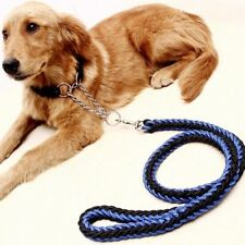 Strong Pet Collar Braid Lead Leash Large Dog Rope Splitter Coupler Clip Traction