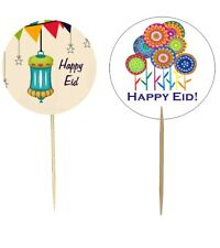 Happy Eid Party Cupcake Toppers (12 pack) Islamic Muslim Holiday Decoration