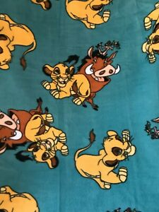 Lion King 35 X 56 Fleece Blanket Toddler Baby Kids Crib Bed Disney Throw Simba
