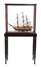 "USS Constitution Old Ironsides Tall Ship 22.5"" Wood Model With Display Assembled"
