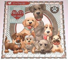 Handmade Greeting Card 3D All Occasion With Dogs