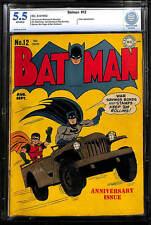 Batman #12 CBCS 5.5 DC 1942 Joker! Robin! Justice League! JLA! Like CGC! E12 cm