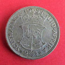 SOUTH AFRICA 1955 SILVER HALF CROWN