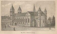 A2224 Duomo di Viberg - Xilografia - Stampa Antica del 1895 - Engraving