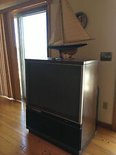 "Vintage Antique GE 40"" Widescreen TV General Electric Back Lit 40PW 3000K"