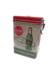 Coca-Cola Tin Canister/Container with metal latch/Good Things to Eat