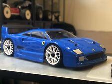 0100 Ferrari F40 1/8 GT body clear 325mm Hobao VTE Serpent Cobra Traxxas Slash
