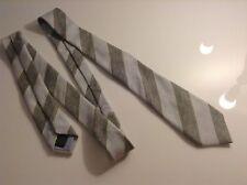 BNWTT 100% Auth GANT, Cashmere & Silk Grey Striped Tie.RRP £59.00