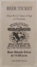 The Eagles - Vintage 1995 Unused Whole Beer Ticket Little Rock Ar.