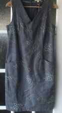 White Stuff Grey Embroidered Pinafore Dress Size 10 NWT