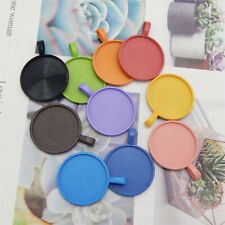 Wholesale 25x25mm Bezel Base Setting with Glass Pendant Charms DIY Findings 10pc