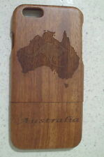 Handmade natural wooden case with Australis map & kangaroo for Iphone6/Iphone6s