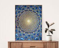 Alex Grey Poster, Collective Vision, Psychedelic Spiritual Yoga Wall Art Decor