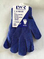 BNWT Boys or Girls LWR Brand Royal Blue Knit Primary School Uniform Warm Gloves