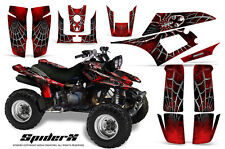 YAMAHA WARRIOR 350 GRAPHICS KIT CREATORX DECALS STICKERS SPIDERX RED