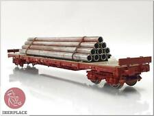 H0 escala 1:87 ho trenes vagon mercancias DC portatubos freight wagon railroad
