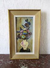Très belle céramique de Vallauris signé Francis pièce unique Tableau Design 1970