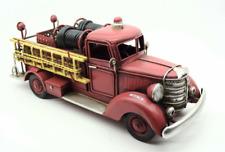 More details for vintage fire truck engine metal model home crafts decoration ornament