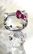 SWAROVSKI CRYSTAL HELLO KITTY WITH PINK BOW 1096877 MINT BOXED RETIRED