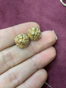 Solid 18K Yellow Gold John Hardy Stud Earrings