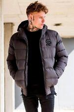 Sinners Attire Mens Hooded Puffa Padded Bubble Winter Puffer Designer Jacket New
