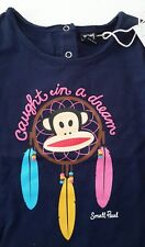 Paul Frank Kids Tshirt top Designer Small Paul Long sleeves blue 9 Months Monkey