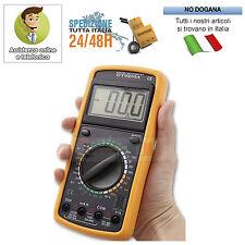 TESTER MULTIMETRO DT9205A DIGITALE PROFESSIONALE CON CAVI PUNTALI