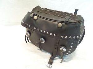 01 2001 Indian Gilroy Scout Right Black Luggage Bag Saddlebag Saddle bag