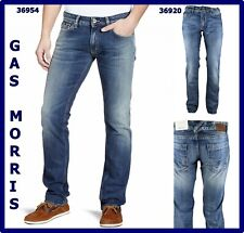 jeans denim gas da uomo morris a vita bassa regular gamba dritta stright w30 44