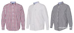 NEW Tommy Hilfiger Long Sleeve Plaid Logo, 100% Cotton, T-shirt, Sizes S-3XL