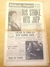 MELODY MAKER 1958 APRIL 12 SARAH VAUGHAN KEN COLYER JAZZ BIG BAND SWING