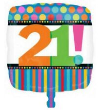 HAPPY 21st BIRTHDAY PARTY FOIL HELIUM BALLOONS 21 GIFT IDEA - #22935