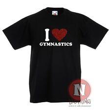 I Love Gimnasia Infantil Camiseta 3-13 Años Diseño Fresco Gimnasio Artística 1afbb0bd511bf