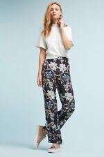 NWT Anthropologie Kachel Multi Colored Silk Blend Percy Floral Pants SZ 4, 2