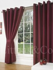 Solid Pattern 100% Cotton Curtains & Pelmets