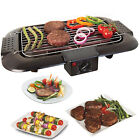 ELECTRIC BBQ BARBECUE GRILL GRIDDLE TABLE TOP CAMPING KITCHEN COOKIN 2000W