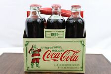 COCA COLA HOLIDAY EDITION 1899 REPLICA 9.3 OZ GLASS BOTTLES 6 PACK W/ CARRY CASE