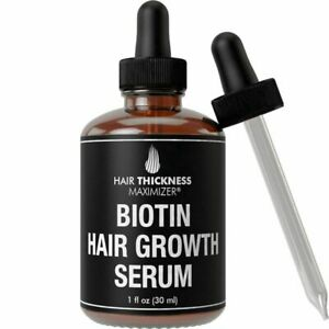 Biotin Hair Growth Serum by Thickness Maximizer. DHT Blocker Oil For...